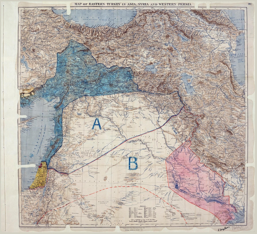 Map of Eastern Turkey in Asia, Syria and western Persia